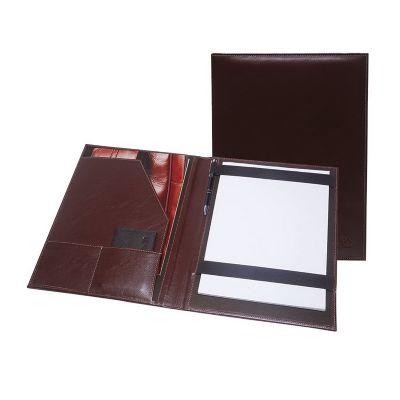 Pasta convenção contendo porta bloco, caneteiro, aba e dois porta cartões. - Galvani