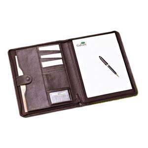 galvani - Pasta Personalizada para Convenção. Contendo: Porta Bloco, Porta Cartões, Porta Calculadora e Bolso com fechamento de lingueta, toda pespontada.