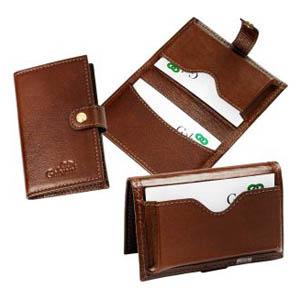 galvani - Porta cartões de visita com 1 bolso de folie e bolso para cartões.