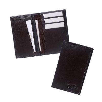 Porta cartão com 3 divisões para cartões de visita.