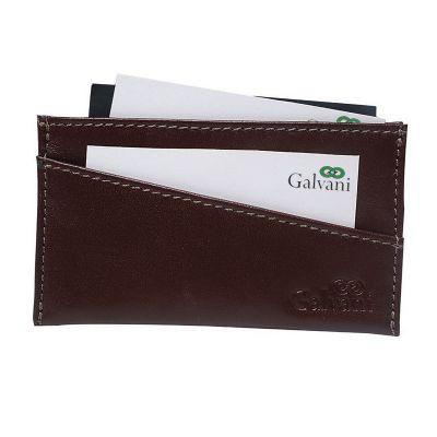 galvani - Porta cartão de visita com duas divisões externas.