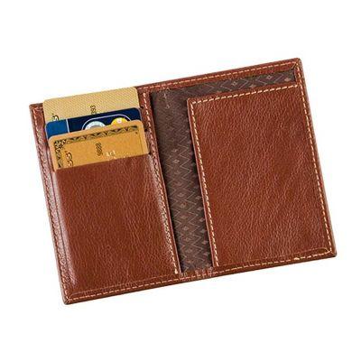 galvani - Porta cartões com 3 divisões e aba, todo pespontado.