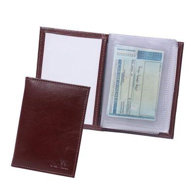 Galvani - Porta documento contendo visor, sem cantoneiras e todo pespontado.