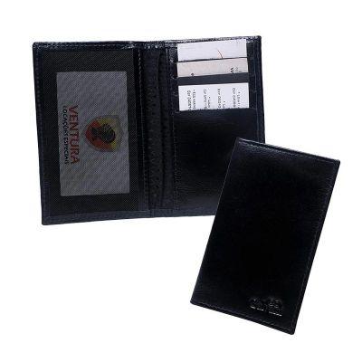 galvani - Porta documento com divisões para cartões e um bolso com tela.