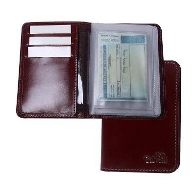 Porta documento com visor em PVC.
