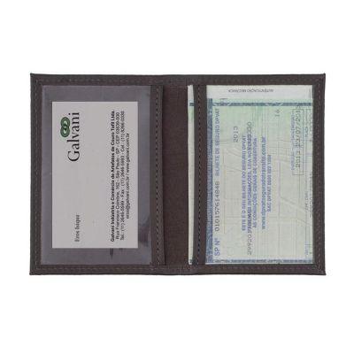 galvani - Porta documento de veículo com 6 divisões plásticas.