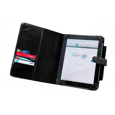 Porta ipad com bolso interno e 4 divisórias para porta cartões. - Galvani