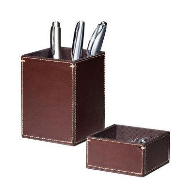 galvani - Porta lápis quadrado todo pespontado.