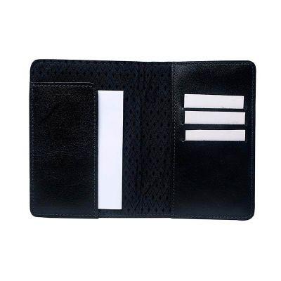 galvani - Porta passaporte com aba e três porta cartões.