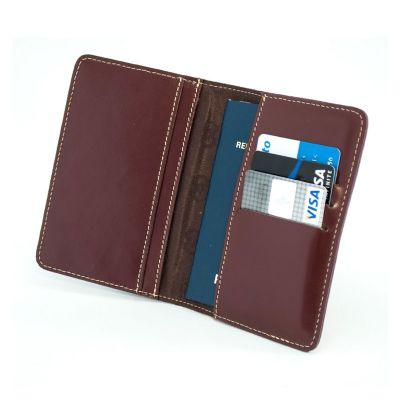 Galvani - Porta passaporte com 3 divisões para cartões.