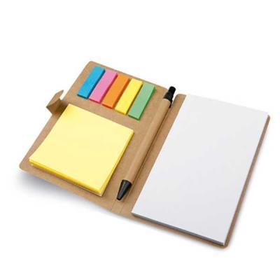 Bloco de anotações modelo caderno. papel Cartão. 6 conjuntos: 25 folhas cada. Incluso caderno com...