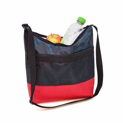 Bolsa Térmica 5 lts Feminina em Nylon 70 Plastificado, bolso frontal de tela e compartimento prin...