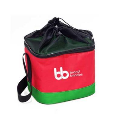 Bolsa Térmica Dobrável 15 litros em Poliéster 600 com alça de ombro, bolso de tela com fechamento...