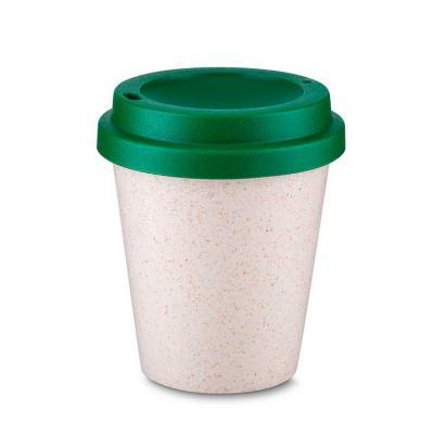 Copo plástico e fibra de arroz 350ml com tampa Plástico Utilizado: PP (Polipropileno) com fibra d...