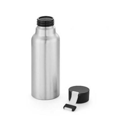 Squeeze de Alumínio. Com fita em silicone. Capacidade: 570 ml. Food grade :Ø66 x 205 mm