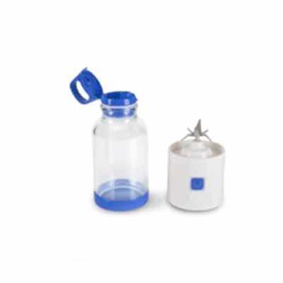 Garrafa mixer, com lâminas inox que têm trava de segurança, assegurando seu funcionamento apenas ...