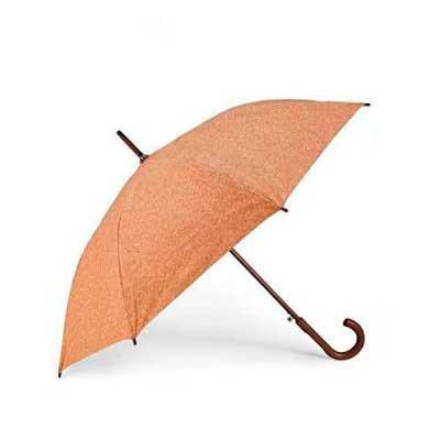 Guarda-Chuva em cortiça. Haste e pega em madeira. Abertura automática. Medidas- ø1050 mm | 890 mm