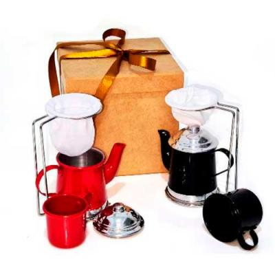 Kit Mini Coador de Café Bule 250ml e Caneca Apresentamos a você este lindo mini coador de café in...