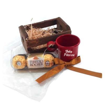 Kit Chocolate no Mini Caixote