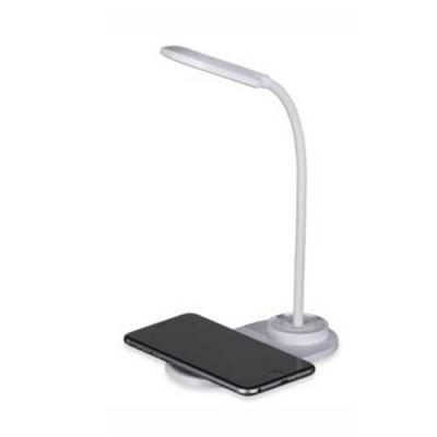 Luminária LED de mesa, articulável e superfície para carregar dispositivos por indução (wireless)...