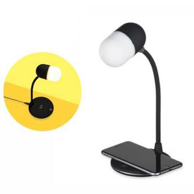 Luminária LED de mesa, articulável, superfície para carregar dispositivos por indução (wireless) ...