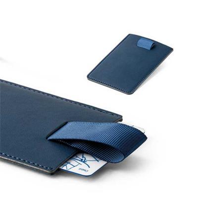 Porta cartões. PU. Tecnologia de bloqueio RFID. Fita em poliéster para retirar facilmente seus ca...