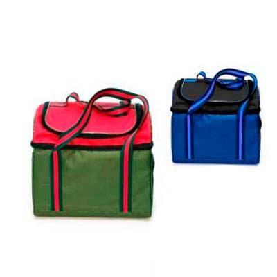 Bolsa Térmica 24 litros em Poliéster 600 com alça de mão em fita listra Com 2 compartimento sendo...