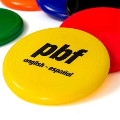 Frisbee personalizado, modelo prato, com excelente área de gravação, ideal para associar com dest...