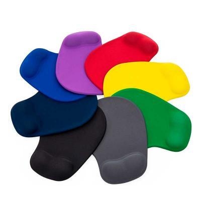Mouse Pad ergonômico de neoprene, com diversas cores.
