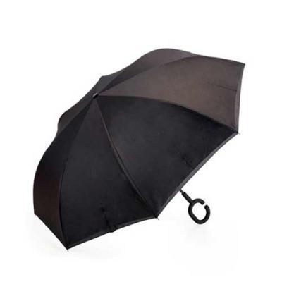 Guarda chuva invertido personalizado Medidas: 79,5 cm x 9,4 cm Peso: 520 gramas Cor: preto Tipo d...