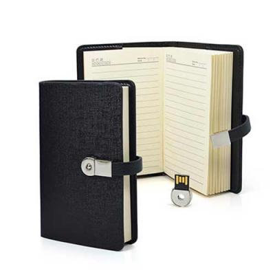 Mini agenda personalizada com pen drive Capacidade: 4gb Peso: 200 gramas Medidas: 15,4 x 9,8 x 2,...