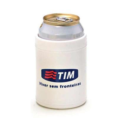 Porta lata térmico, na cor branca.