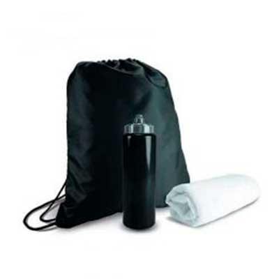 kit Esportivo 3 Peças Kit esportivo 3 peças com mochila saco de nylon, squeeze plástico 950ml com...