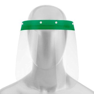 Máscara PETG de proteção facial, sua utilização evita o contato com gotículas, salivas e fluídos ...