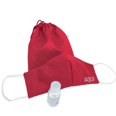 Kit Proteção Máscara e Álcool em Gel 30 ml