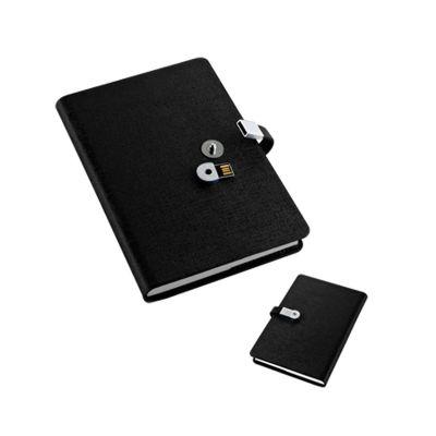 Davanas Original Gifts - Caderno executivo de anota��es /agenda com pendrive 8GB embutido no fecho
