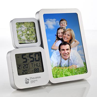 Davanas Original Gifts - Relógio com porta retratos