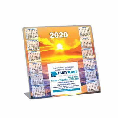 Hukyplast - Calendário de mesa impresso no papel em offset
