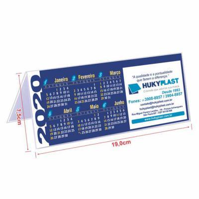 Hukyplast - Calendários de mesa, modelos oferecidos ao cliente, onde só falta a propaganda. Produzidos com a tecnologia exclusiva Hukyplast, impressão em papel of...