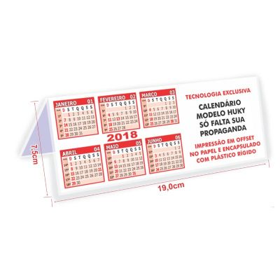 hukyplast - Calendário de mesa modelo Huky