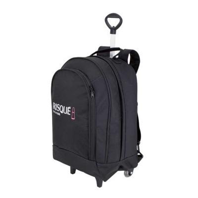 roar-material-promocional - Mochila com carrinho grande. Mochila executiva com espaço para Laptop ideal para quem precisa levar bastante coisas para o trabalho. Compre direto da...