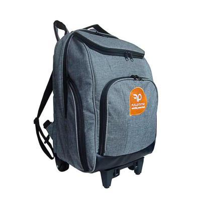 roar-material-promocional - Mochila com carrinho tamanho médio. Mochila com espaço para laptop com vários bolsos para adequar as suas necessidades. Uma mochila versátil que você...
