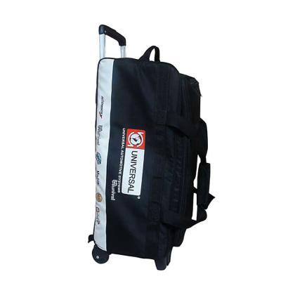 Roar Material Promocional - Bolsa com carrinho tamanho grande. Essa bolsa contém bastante bolsos para que você não eixa nada para trás.