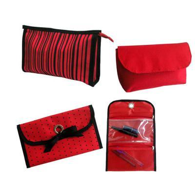 Roar Material Promocional - Kit com 3 necessaires. Ótimo presente para suas funcionárias e clientes.