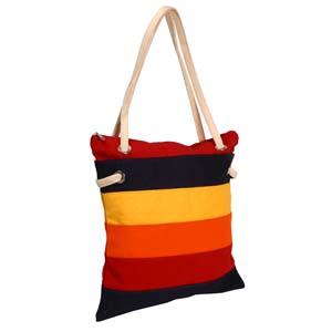Roar Material Promocional - Bolsa sacola em lona colorida, com alça em algodão e fechada por zíper.