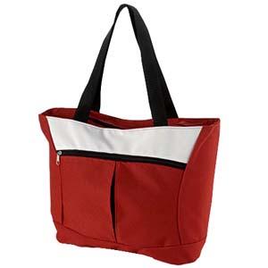 Bolsa/Sacola com bolso frontal, alça de ombro e fechada por zíper. - Roar Material Promocional