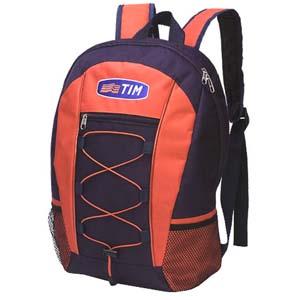 Mochila com bolso frontal, suporte lateral e gravação personalizável. - Roar Material Promocional