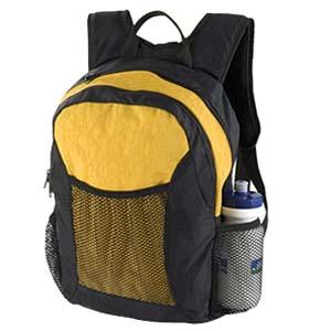Roar Material Promocional - Mochila em nylon amassado, com bolsos laterais e frontal em tela e alça de mão.