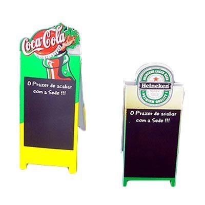 Cavalete de poliestireno alto impacto, recorte especial e personalizado com impressão digital direta UV - Tipo Lousa