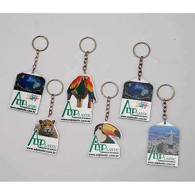 AD Plastic - Chaveiros em acrílico ou poliestireno, personalizados e recortados da forma que o cliente escolher